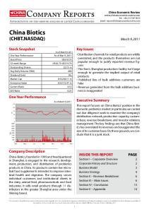 China Biotics (CHBT.NASDAQ)
