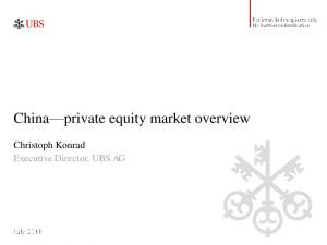 China private equity market overview