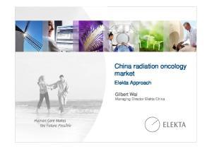 China radiation oncology market