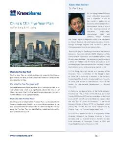 China s 12th Five-Year Plan
