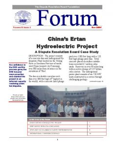 China s Ertan Hydroelectric Project