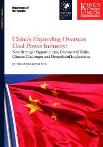 China s Expanding Overseas Coal Power Industry: