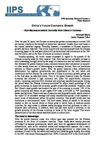 China s Future Economic Growth