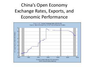 China s Open Economy Exchange Rates, Exports, and Economic Performance