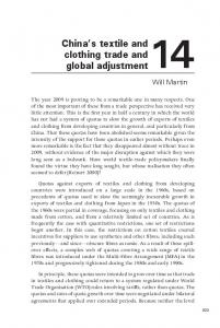 China s textile and clothing trade and global adjustment14