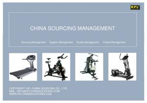 CHINA SOURCING MANAGEMENT