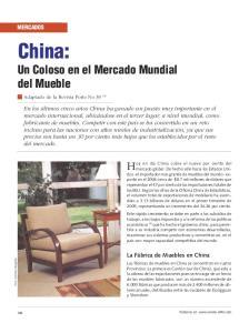 China: Un Coloso en el Mercado Mundial del Mueble