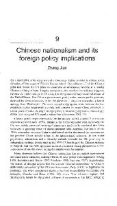 Chinese nationalism and its foreign policy implications