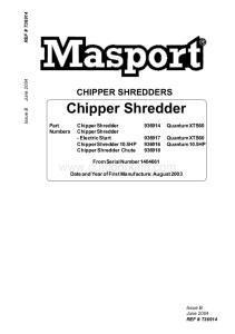 CHIPPER SHREDDERS. Chipper Shredder