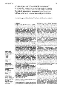 Chlamydia pneumoniae pneumonia requiring