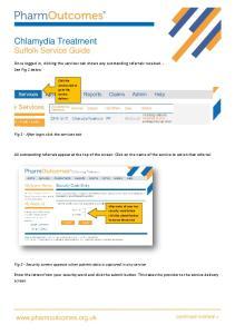 Chlamydia Treatment Suffolk Service Guide