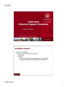 CHM 8304 Physical Organic Chemistry