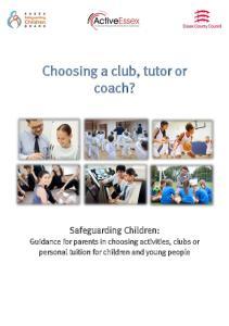 Choosing a club, tutor or coach?
