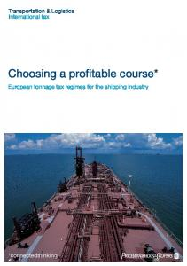 Choosing a profitable course*