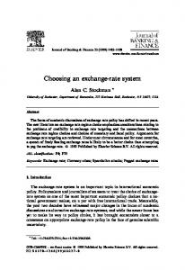Choosing an exchange-rate system