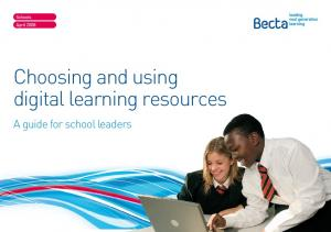 Choosing and using digital learning resources