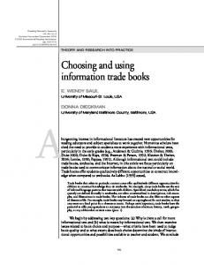 Choosing and using information trade books