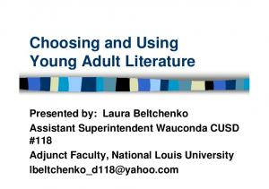 Choosing and Using Young Adult Literature