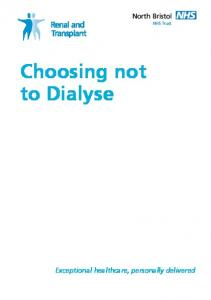 Choosing not to Dialyse