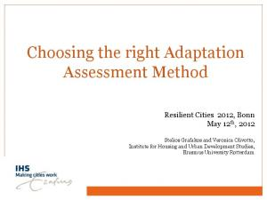 Choosing the right Adaptation Assessment Method