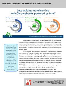 CHOOSING THE RIGHT CHROMEBOOK FOR THE CLASSROOM