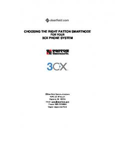 CHOOSING THE RIGHT PATTON SMARTNODE FOR YOUR 3CX PHONE SYSTEM