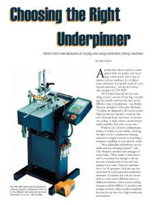 Choosing the Right Underpinner