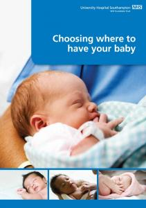 Choosing where to have your baby