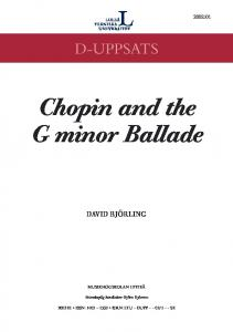 Chopin and the G minor Ballade