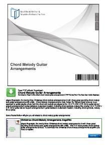 Chord Melody Guitar Arrangements