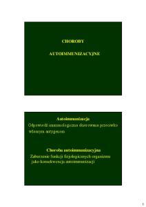 CHOROBY AUTOIMMUNIZACYJNE