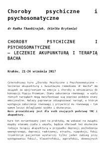 Choroby psychiczne i psychosomatyczne