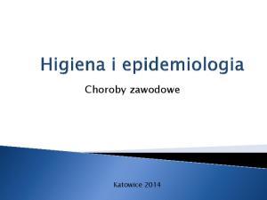 Choroby zawodowe Katowice 2014