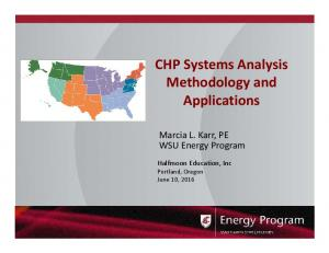 CHP Systems Analysis Methodology and Applications
