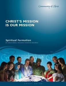 CHRIST S MISSION IS OUR MISSION