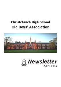 Christchurch High School. Old Boys Association