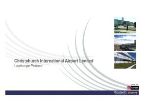 Christchurch International Airport Landscape Protocol Landscape Protocol.Draft.doc. Report Name Reference