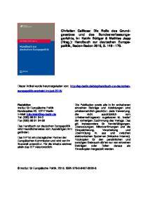 Christian Calliess: Die Rolle des Grundgesetzes
