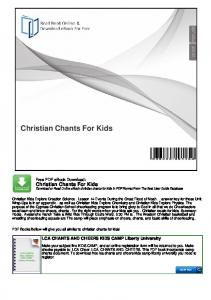 Christian Chants For Kids