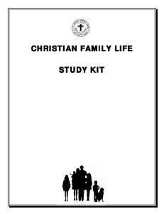 CHRISTIAN FAMILY LIFE STUDY KIT