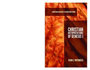 Christian. Interpretations. of Genesis 1