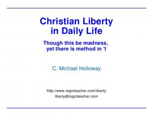 Christian Liberty in Daily Life