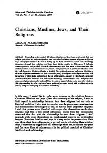 Christians, Muslims, Jews, and Their Religions