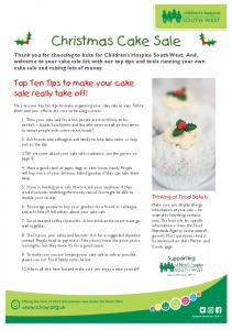 Christmas Cake Sale. Top Ten Tips to make your cake sale really take off!