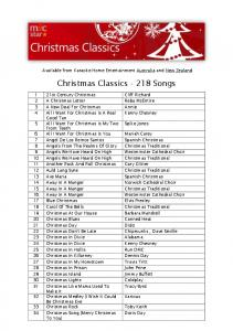 Christmas Classics Songs