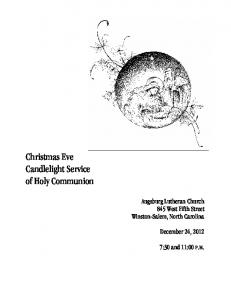 Christmas Eve Candlelight Service of Holy Communion