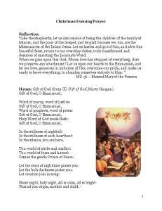 Christmas Evening Prayer