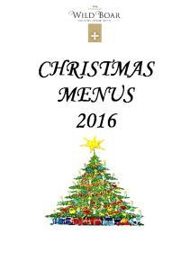CHRISTMAS MENUS 2016