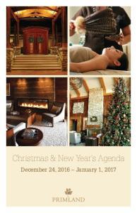 Christmas & New Year s Agenda
