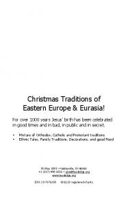 Christmas Traditions of Eastern Europe & Eurasia!